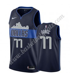 Dallas Mavericks Trikot Herren 2019-20 Luka Doncic 77# Marine Statement Edition Basketball Trikots N..