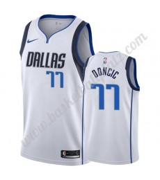 Dallas Mavericks Trikot Herren 2019-20 Luka Doncic 77# Weiß Association Edition Basketball Trikots N..