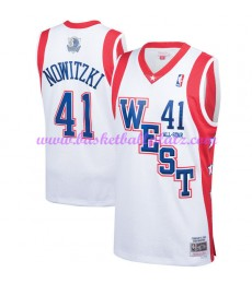 Dallas Mavericks Trikot Herren Dirk Nowitzki 41# Weiß 2004 NBA All Star Hardwood Classics Basketball Trikots Swingman