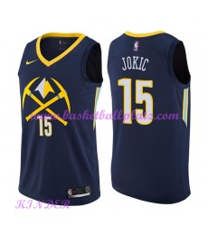 Denver Nuggets NBA Trikot Kinder 2018-19 Nikola Jokic 15# City Edition Basketball Trikots Swingman..