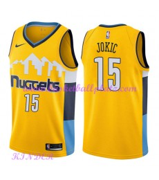 Denver Nuggets NBA Trikot Kinder 2018-19 Nikola Jokic 15# Statement Edition Basketball Trikots Swing..