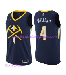 Denver Nuggets NBA Trikot Kinder 2018-19 Paul Millsap 4# City Edition Basketball Trikots Swingman..