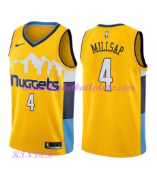 Denver Nuggets NBA Trikot Kinder 2018-19 Paul Millsap 4# Statement Edition Basketball Trikots Swingm..