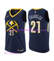 Denver Nuggets NBA Trikot Kinder 2018-19 Wilson Chandler 21# City Edition Basketball Trikots Swingma..