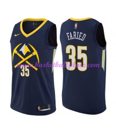 Denver Nuggets Trikot Herren 2018-19 Kenneth Faried 35# City Edition Basketball Trikots NBA Swingman..