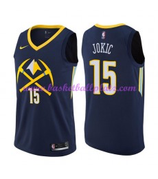 Denver Nuggets Trikot Herren 2018-19 Nikola Jokic 15# City Edition Basketball Trikots NBA Swingman..