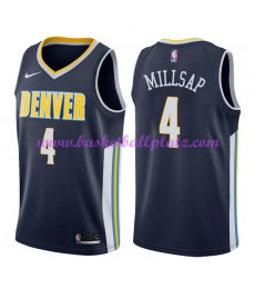 Denver Nuggets Trikot Herren 2018-19 Paul Millsap 4# Icon Edition Basketball Trikots NBA Swingman..