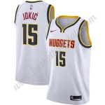 Denver Nuggets Trikot Herren 2019-20 Nikola Jokic 15# Weiß Association Edition Basketball Trikots NBA Swingman