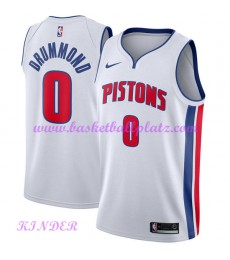 Detroit Pistons NBA Trikot Kinder 2018-19 Andre Drummond 0# Association Edition Basketball Trikots S..