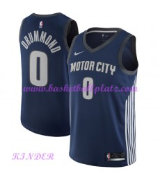 Detroit Pistons NBA Trikot Kinder 2018-19 Andre Drummond 0# City Edition Basketball Trikots Swingman..
