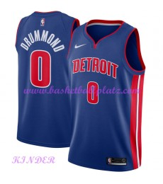 Detroit Pistons NBA Trikot Kinder 2018-19 Andre Drummond 0# Icon Edition Basketball Trikots Swingman..