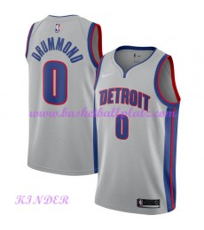 Detroit Pistons NBA Trikot Kinder 2018-19 Andre Drummond 0# Statement Edition Basketball Trikots Swi..