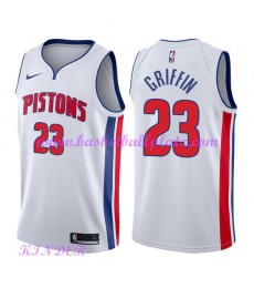 Detroit Pistons NBA Trikot Kinder 2018-19 Blake Griffin 23# Association Edition Basketball Trikots Swingman