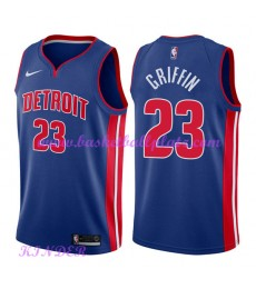 Detroit Pistons NBA Trikot Kinder 2018-19 Blake Griffin 23# Icon Edition Basketball Trikots Swingman