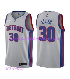 Detroit Pistons NBA Trikot Kinder 2018-19 Jon Leuer 30# Statement Edition Basketball Trikots Swingma..