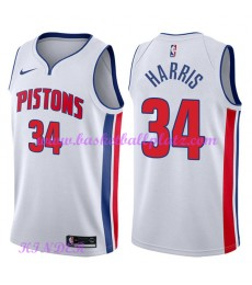 Detroit Pistons NBA Trikot Kinder 2018-19 Tobias Harris 34# Association Edition Basketball Trikots S..