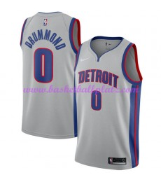 Detroit Pistons Trikot Herren 2018-19 Andre Drummond 0# Statement Edition Basketball Trikots NBA Swi..