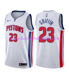 Detroit Pistons Trikot Herren 2018-19 Blake Griffin 23# Association Edition Basketball Trikots NBA Swingman