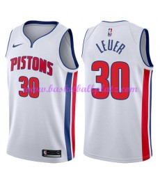 Detroit Pistons Trikot Herren 2018-19 Jon Leuer 30# Association Edition Basketball Trikots NBA Swing..