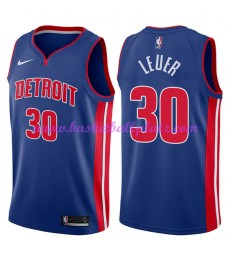 Detroit Pistons Trikot Herren 2018-19 Jon Leuer 30# Icon Edition Basketball Trikots NBA Swingman..