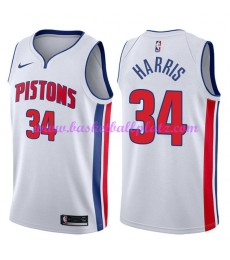 Detroit Pistons Trikot Herren 2018-19 Tobias Harris 34# Association Edition Basketball Trikots NBA S..