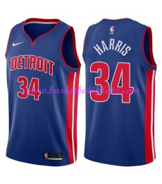 Detroit Pistons Trikot Herren 2018-19 Tobias Harris 34# Icon Edition Basketball Trikots NBA Swingman..