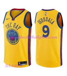 Golden State Warriors NBA Trikot Kinder 2018-19 Andre Iguodala 9# City Edition Basketball Trikots Sw..