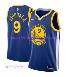 Golden State Warriors NBA Trikot Kinder 2018-19 Andre Iguodala 9# Icon Edition Basketball Trikots Sw..