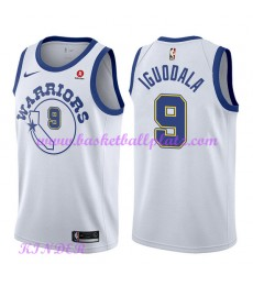 Golden State Warriors NBA Trikot Kinder 2018-19 Andre Iguodala 9# Weiß Hardwood Classics Basketball ..