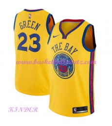 Golden State Warriors NBA Trikot Kinder 2018-19 Draymond Green 23# City Edition Basketball Trikots S..