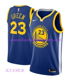 Golden State Warriors NBA Trikot Kinder 2018-19 Draymond Green 23# Icon Edition Basketball Trikots S..
