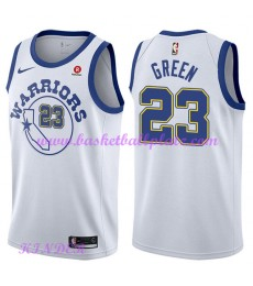 Golden State Warriors NBA Trikot Kinder 2018-19 Draymond Green 23# Weiß Hardwood Classics Basketball..