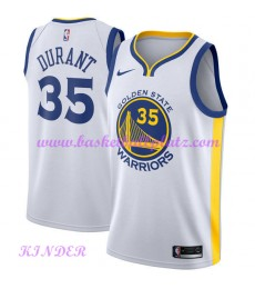 Golden State Warriors NBA Trikot Kinder 2018-19 Kevin Durant 35# Association Edition Basketball Trik..