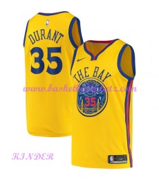 Golden State Warriors NBA Trikot Kinder 2018-19 Kevin Durant 35# City Edition Basketball Trikots Swingman
