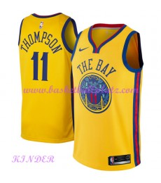 Golden State Warriors NBA Trikot Kinder 2018-19 Klay Thompson 11# City Edition Basketball Trikots Swingman