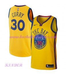 Golden State Warriors NBA Trikot Kinder 2018-19 Stephen Curry 30# City Edition Basketball Trikots Swingman