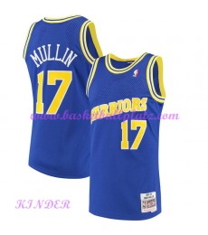 Golden State Warriors NBA Trikot Kinder 1993-94 Chris Mullin 17# Blau Hardwood Classics Basketball T..