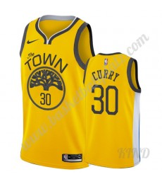 Golden State Warriors Trikot Kinder 2019-20 Stephen Curry 30# Gold Earned Edition NBA Trikots Swingm..