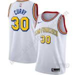 Golden State Warriors Trikot Kinder Stephen Curry 30# Weiß Finished Hardwood Classics NBA Trikots Swingman