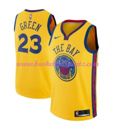 Golden State Warriors Trikot Herren 2018-19 Draymond Green 23# City Edition Basketball Trikots NBA S..