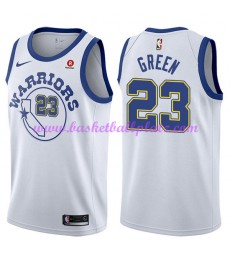 Golden State Warriors Trikot Herren 2018-19 Draymond Green 23# Weiß Hardwood Classics Basketball Tri..