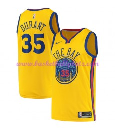 Golden State Warriors Trikot Herren 2018-19 Kevin Durant 35# City Edition Basketball Trikots NBA Swi..