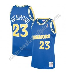 Golden State Warriors Trikot Herren 1990-91 Mitch Richmond 23# Blau Hardwood Classics Basketball Tri..