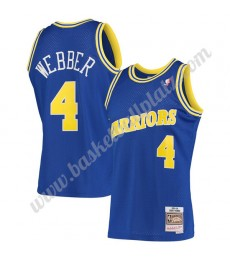 Golden State Warriors Trikot Herren 1993-94 Chris Webber 4# Blau Hardwood Classics Basketball Trikot..