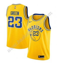 Golden State Warriors Trikot Herren 2019-20 Draymond Green 23# Gold Hardwood Classics Basketball Tri..