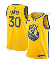 Golden State Warriors Trikot Herren 2019-20 Stephen Curry 30# Gold Finished Statement Edition Basket..
