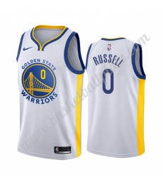 Golden State Warriors Trikot Herren 2019-20 D'Angelo Russell 0# Weiß Association Edition Basketball ..