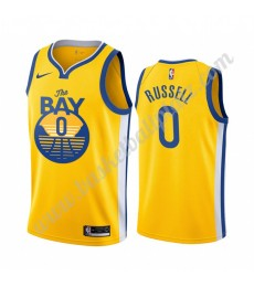 Golden State Warriors Trikot Herren 2019-20 D'Angelo Russell 0# Statement Edition Basketball Trikots..
