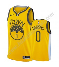 Golden State Warriors Trikot Herren 2019-20 DeMarcus Cousins 0# Gold Earned Edition Basketball Triko..