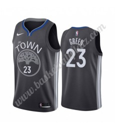 Golden State Warriors Trikot Herren 2019-20 Draymond Green 23# Schwarz City Edition Basketball Triko..